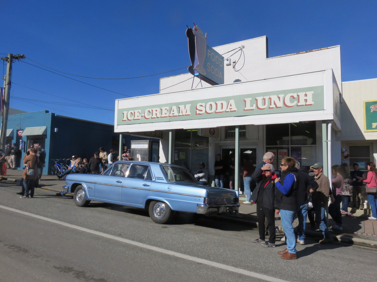 The Tapanui dairy (a general store) becomes an ice-cream soda shop...