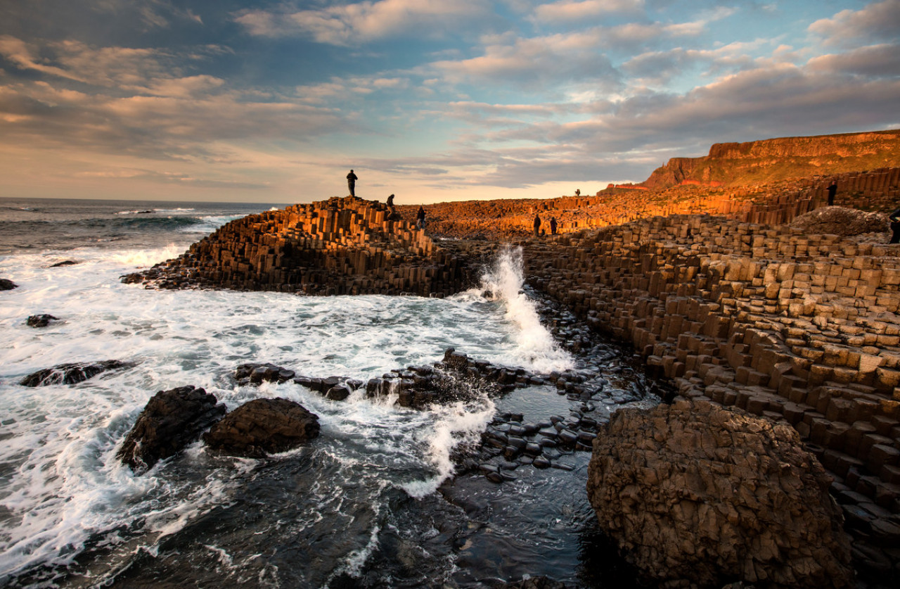 Giant's Causeway is the only World Heritage Site in Northern Ireland. It's famous for its 40,000 polygonal columns of layered basalt.