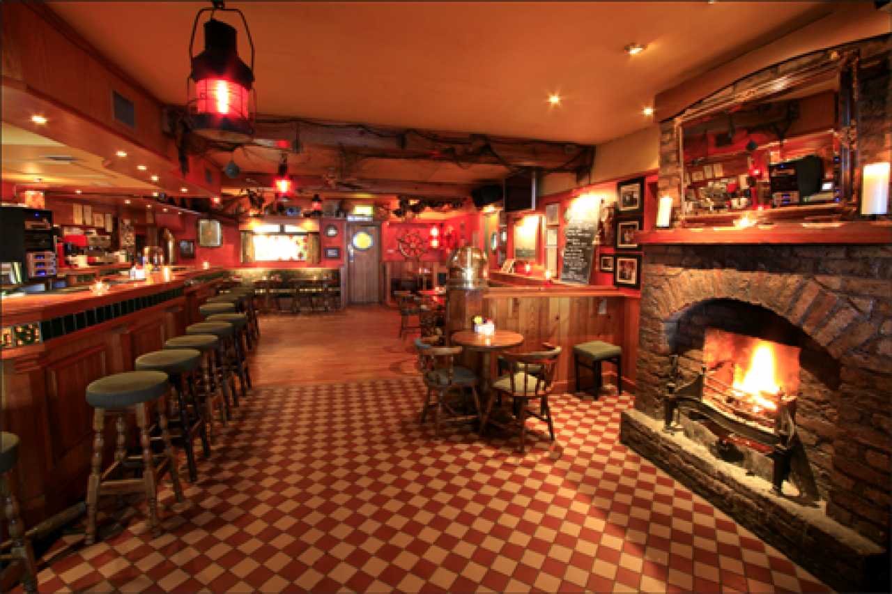 The infamous Bridge Bar is the heart of the guesthouse.