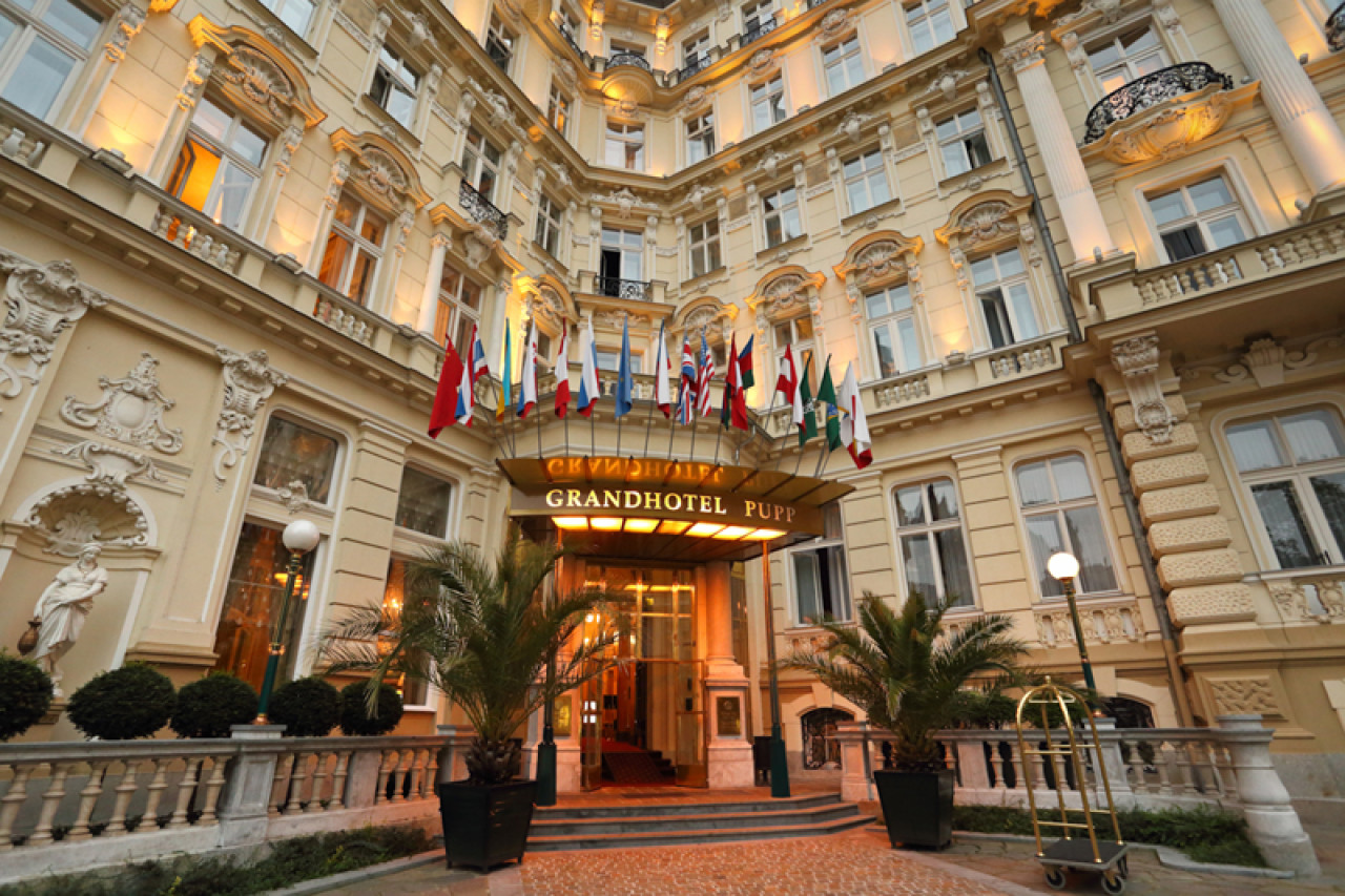 In Casino Royale, the Grandhotel Pupp in Karlovy Vary, Czech Republic, doubled for the Hotel Splendide set in Montenegro.
