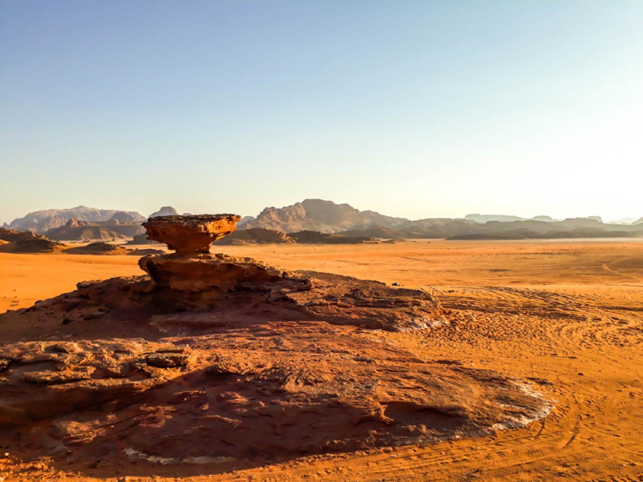 The Mushroom Rock, Jabal Abu Rashrash.