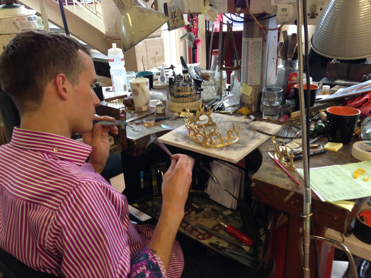 Dan handcrafting Joffrey's wedding crown