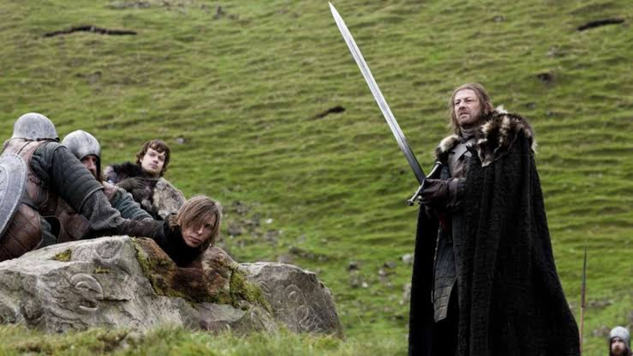 Ned doing his duty as Warden of the North.
