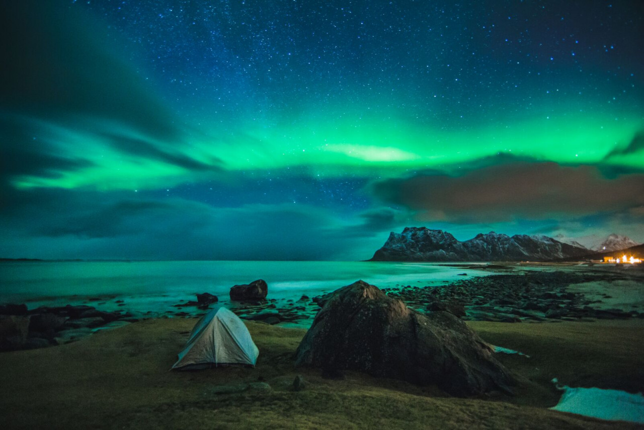 The famed Northern Lights are at their best from September to mid-April.