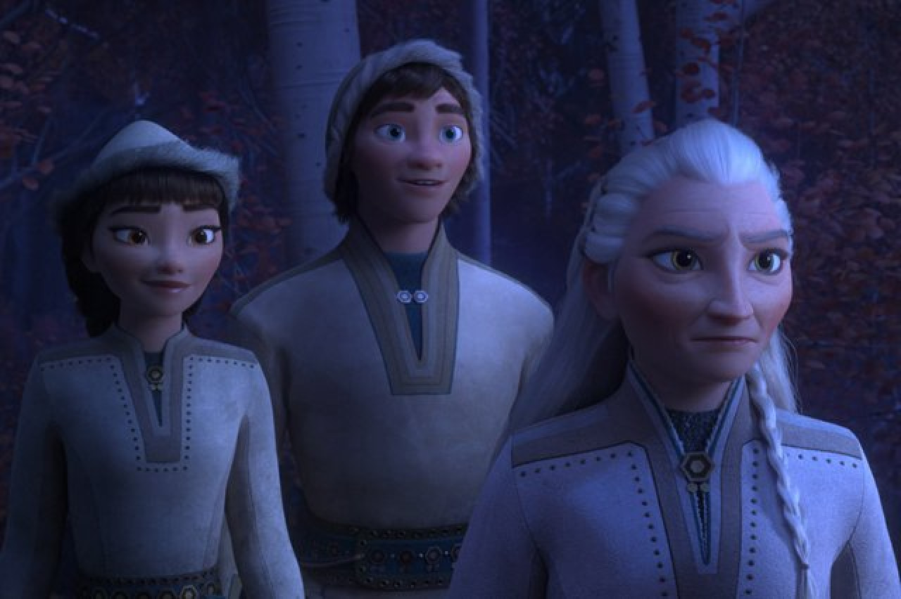In Frozen 2, the Northuldra are an indigenous group who live within the Enchanted Forest north of Arendelle, known as the 'people of the sun'. They are deeply connected to the magic of the forest and its elemental spirits.