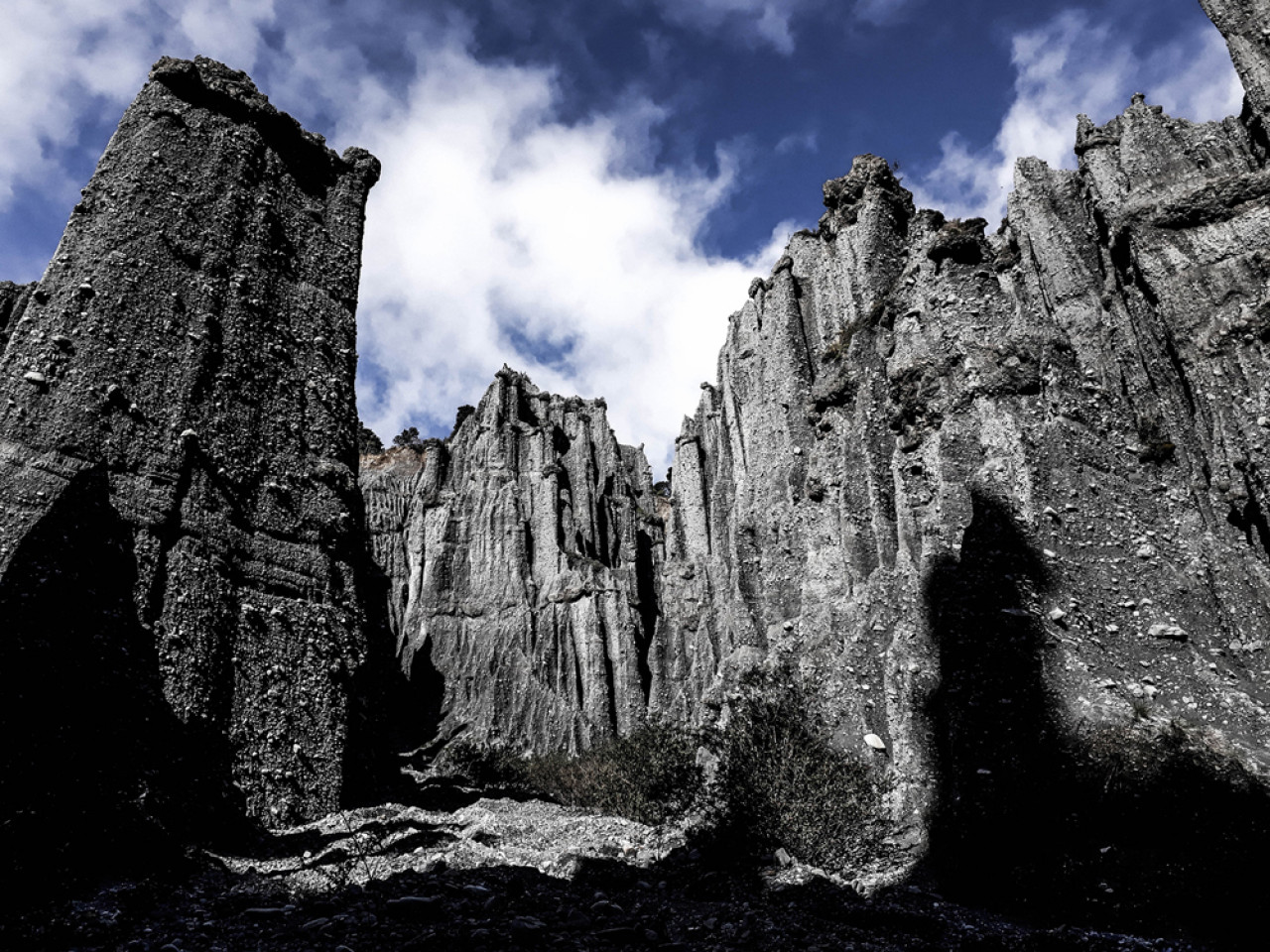 The Putangirua Pinnacles - which features as the Dimholt Road and the entrance to the Paths of the Dead.