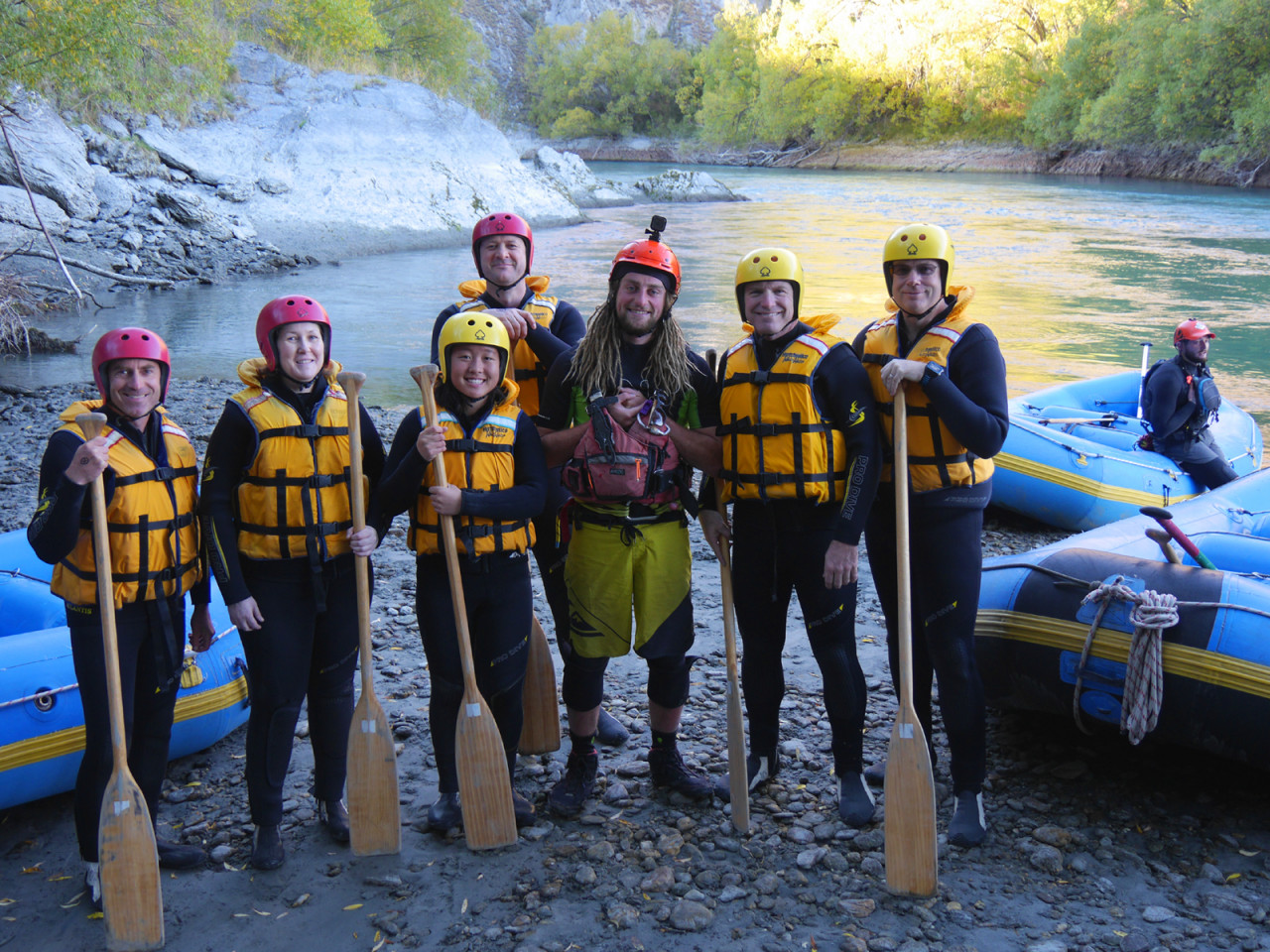 So this is me (far left) with my five rafting buddies and our guide Martijn.