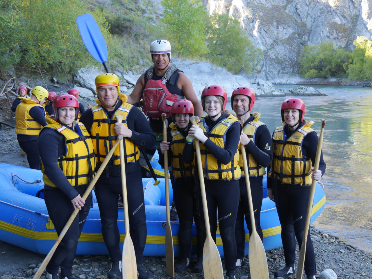 Head guide Chief (in the white helmet) looking pretty confident.
