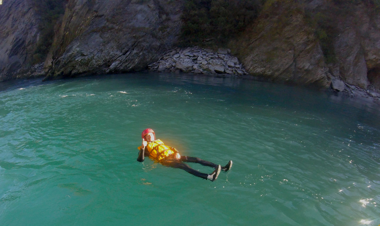 My protective layers consisted of waterproof booties, a full length 5mm wetsuit, a 5mm spray jacket and a life jacket.