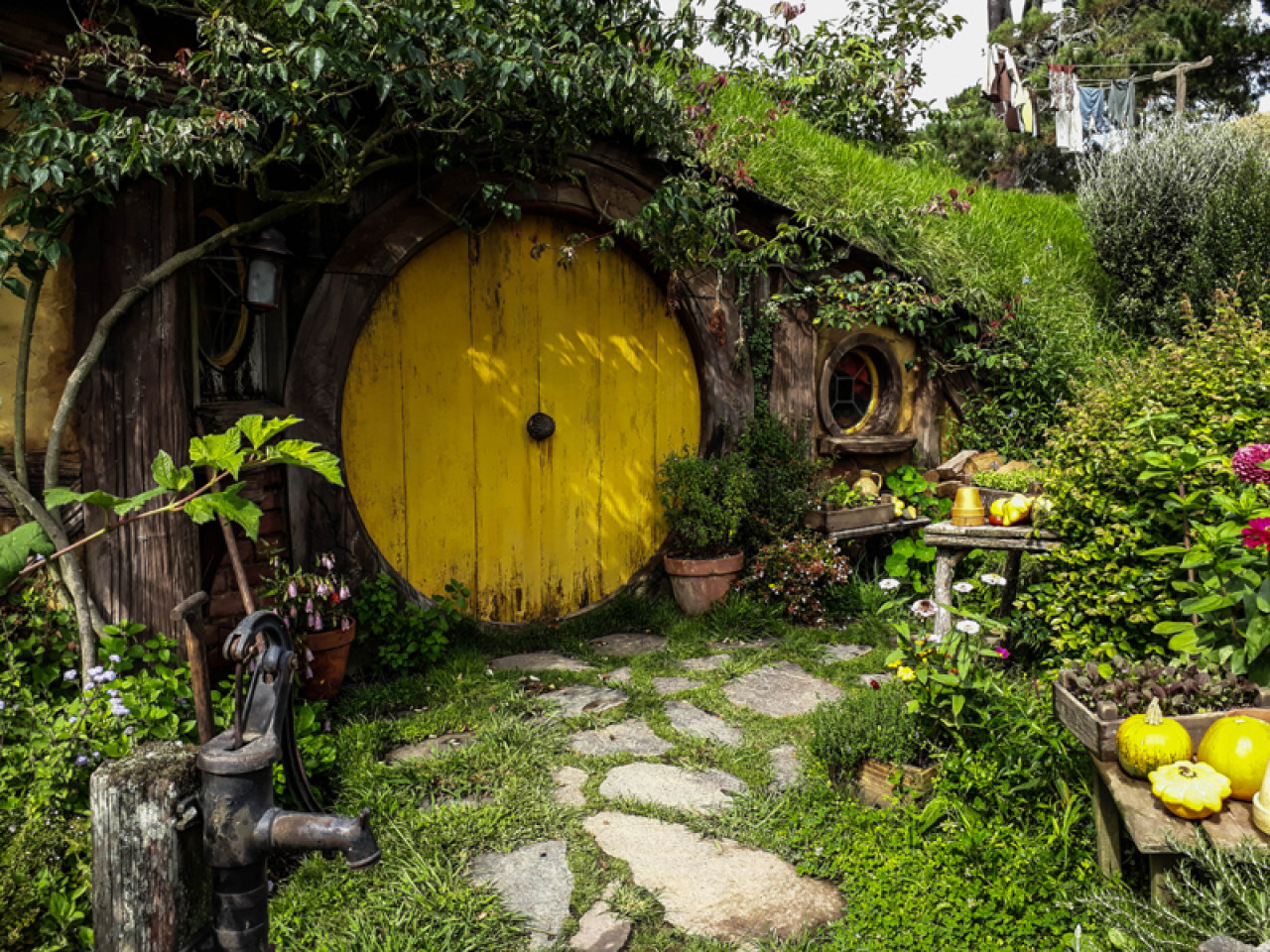 Samweis Gamgee's home with its yellow door is the very last thing we see at the end of The Lord of the Rings trilogy.