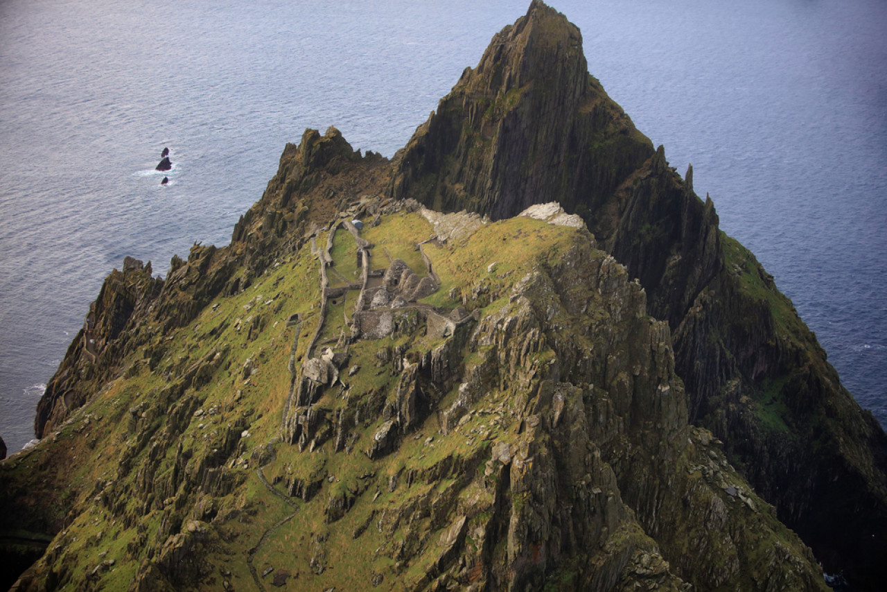 Skellig Michael AKA Ahch-To is the iconic film location that featured in Star Wars: The Force Awakens and The Last Jedi.