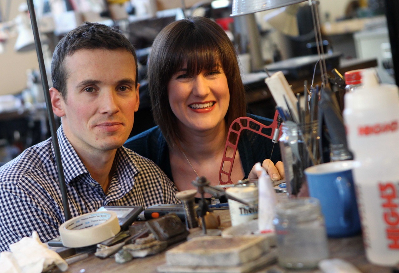 Jewellers Brona Steenson-Spencer and Dan Spencer