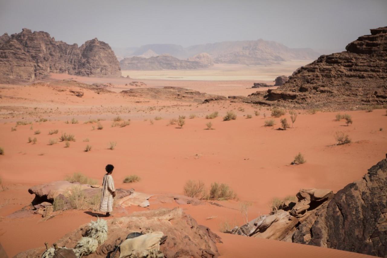 A dangerous road lies ahead for Theeb (film scene).