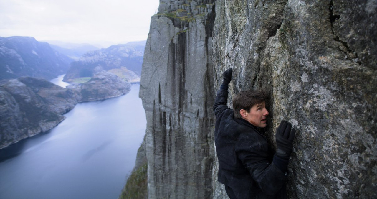 Ethan Hunt clinging on. Check out more amazing scenes in the official MI6 trailer.